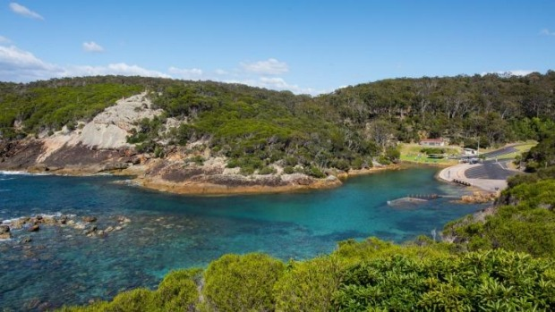 The South Coast is indented with hundreds of beautiful inlets.
