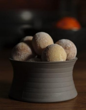 Tonka bean doughnuts at The Farmhouse, Pialligo Estate, where the food is garden to table.