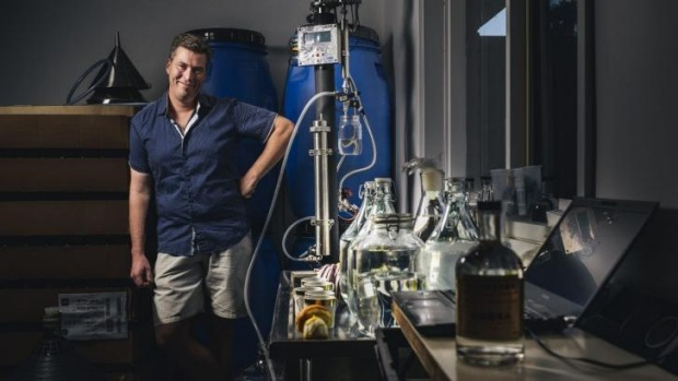 Tim Reardon at the Kaleen headquarters of the Canberra Distillery.