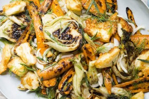 char-grilled fennel and carrot salad