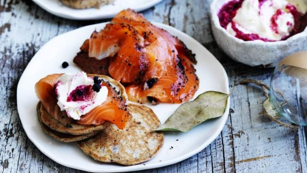 These savoury pikelets go well with gravlax or smoked salmon.