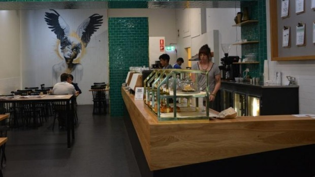 Axil Coffee Roasters cafe in Southern Cross Lane.