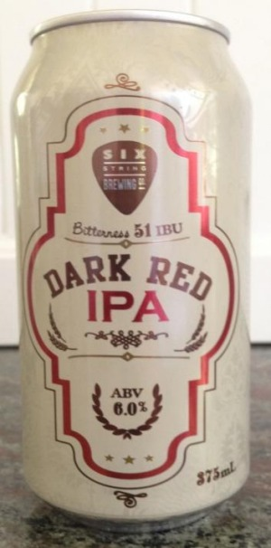 Six String Brewing Co's Dark Red IPA: Harmonious drop.