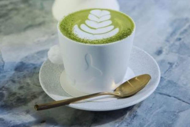 Matcha latte at Rabbit Hole Organic Tea Bar - where you can find plenty of wide-ranging brews.