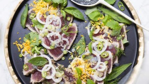Seared tuna rice paper rolls or salad - you choose!