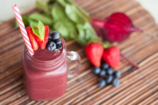 Beetroot and berry smoothie for when you need an extra blast of iron and folate. <a ...