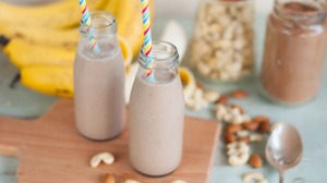 Banana, Cashew and Cacao Smoothie by Danielle Colley.