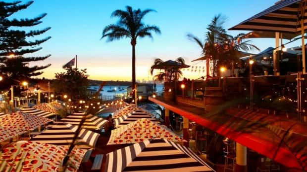 Summer nights: The Watsons Bay Boutique Hotel is one of many options for summer outings.