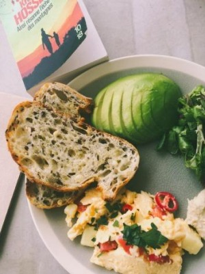 Brunch with a book at Centennial Park's new cafe.