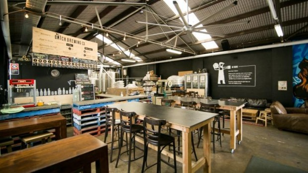 The taproom of Batch Brewing Co, Marrickville, now two-years old.