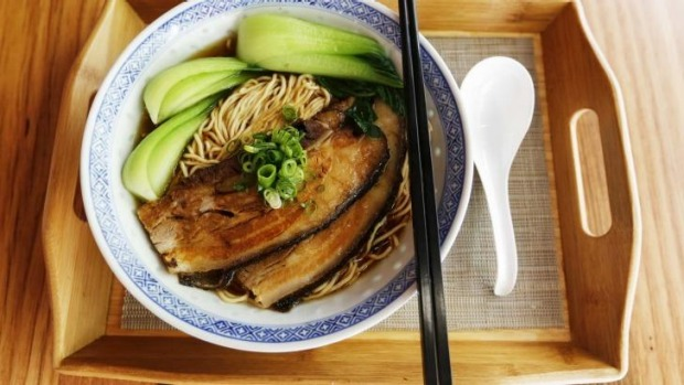 Melbourne's Shanghai Street Noodle Wizard's noodle soup with pork belly.