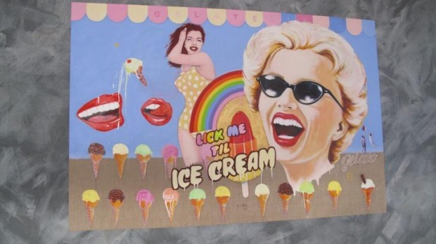 Ice-cream-inspired artwork at 1565.