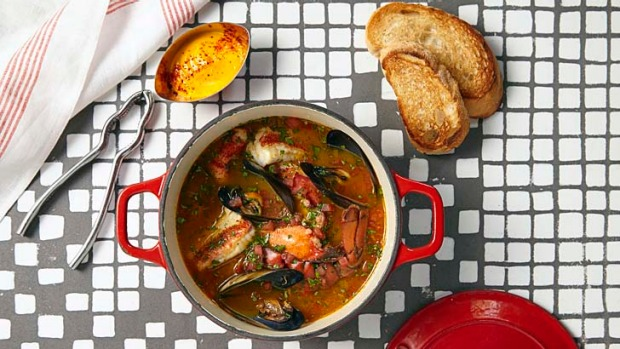 Ananas's classic French seafood stew.
