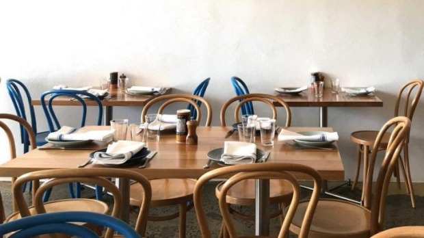 New: Inside Ipsos restaurant in Lorne.
