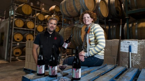 Services to Humanity: Eden Road Vineyard winemaker Nick Spencer and Four Wings Vineyard winemaker Sarah Collingwood.