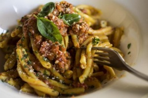Comforting: Beef ragu tossed with strozzapreti.