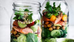 Salad in a jar.