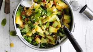 Green and gold salad.