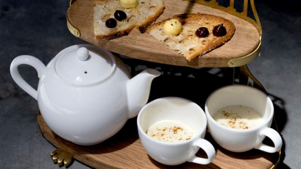 Go-to dish: English breakfast tea and toast - wild mushroom tea, gentleman's relish and bone marrow toast.