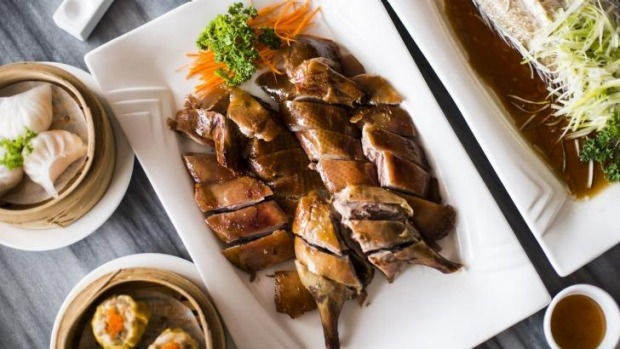 Roasted duck is a highlight.