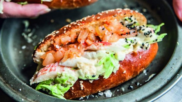 Kimchi puts a Korean twist on the New England lobster roll.