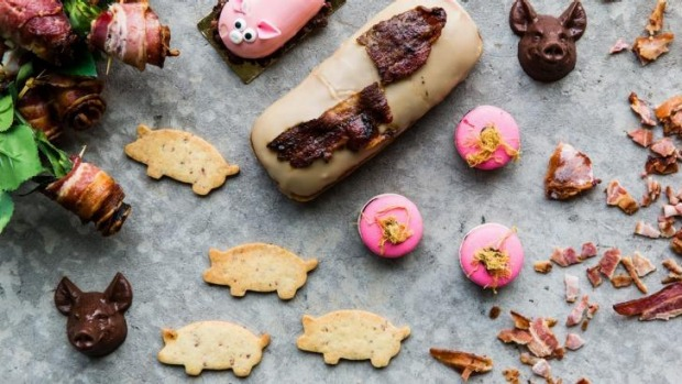 MakMak Macarons and Grumpy Donuts are some of the stallholders creating pork-inspired treats for Bacon Brewfest.