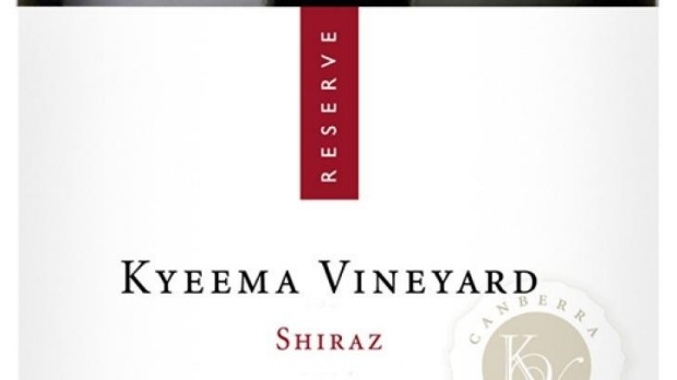 Capital Wine Kyeema Vineyard Canberra District Reserve Shiraz 2013 $52