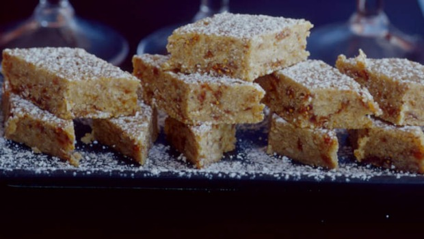 Fig fudge makes a dainty party treat.