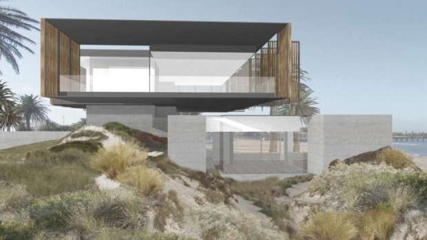 The design for the new Stokehouse St Kilda, by architect Robert Simeoni.