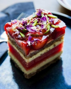 Watermelon, rose and strawberry cake from Black Star Pastry.
