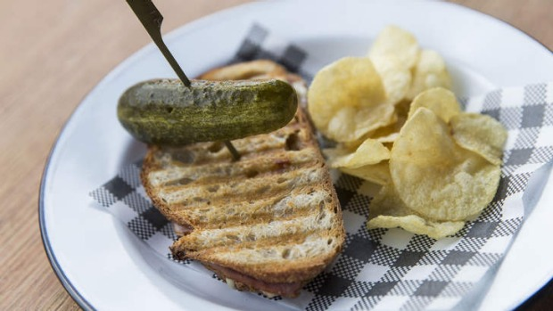 Try the signature gruyere toastie, with potato chips and a pickle.