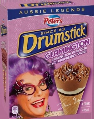 The Peters Drumstick Glamington is a coconut-covered tribute to the lamington.