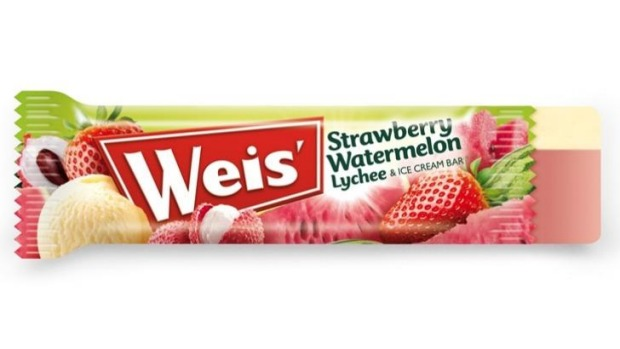 The Weis Strawberry, Watermelon Lychee & Ice Cream Bar is No. 1.
