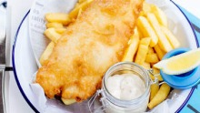 Fish and chips at Tommy Ruff.