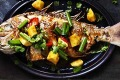 Crispy fried whole snapper with sweet and sour sauce,