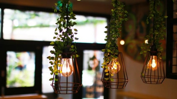The interiors of Greenhouse Asian Salads.