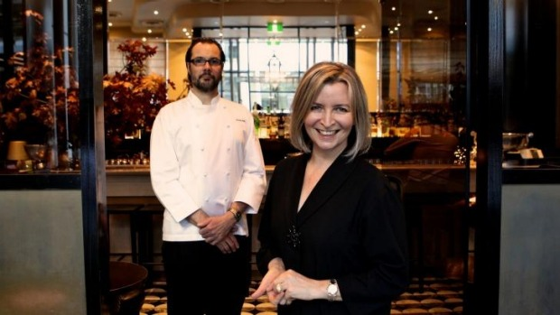 Owners of Sepia restaurant, Martin Benn and Vicki Wild.