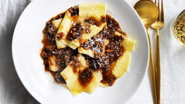 Wagyu bolognese with hand-cut pasta.