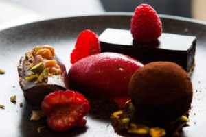 Chocolate assiette at Buvette.