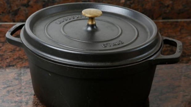 Should you use soapy water on a cast iron pot?