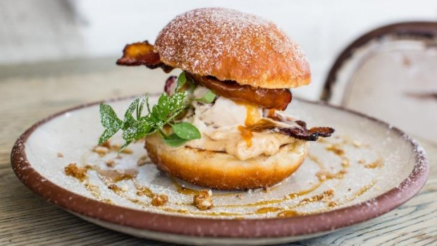 Cuckoo Callay's bacon ice-cream sandwich, topped with doughnut buns, will be served at the festival.