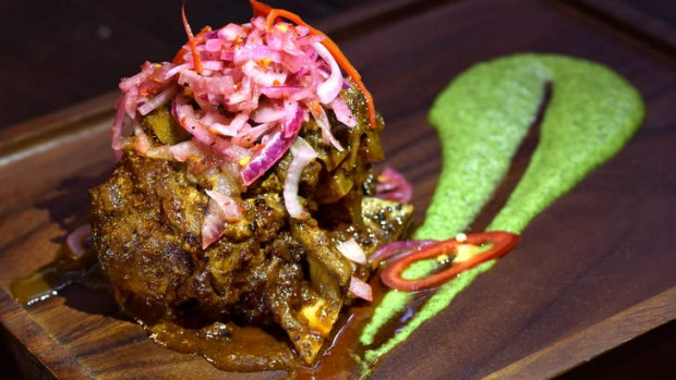 Go-to dish: 'The great lamb raan' is marinated and slow-roasted for two days.