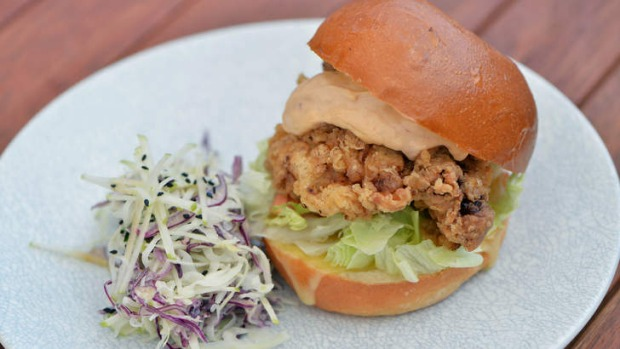Southern fried chicken burger.