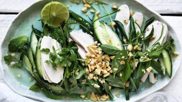 Cooing, calming goodness: Coconut chicken salad.