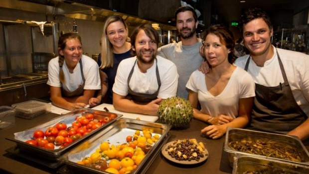 Noma in Sydney: (from left) Tess Davison, Katherine Bont, Rene Redzepi, James Spreadbury, Tamara Archer and  Beau ...