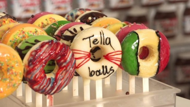 "Tella Ball's icing-covered ""Gelat-doughs""."