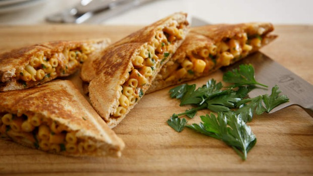 Frank Camorra's mac and cheese jaffle.