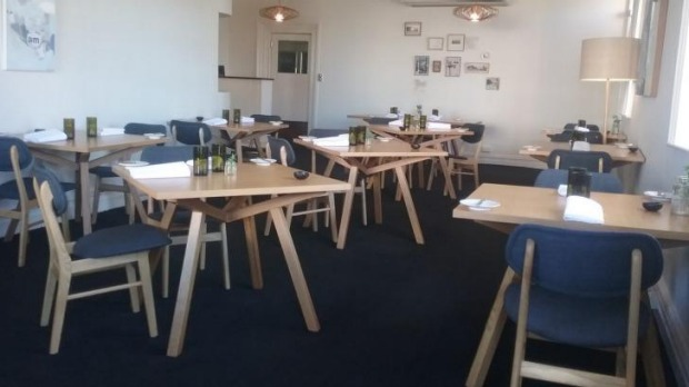 The Scandi-cool dining room at Fen in Port Fairy.