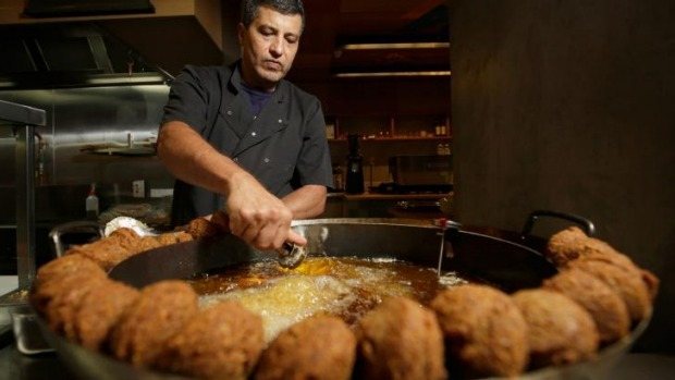 Tony Haddad fries falafels at Tahini.