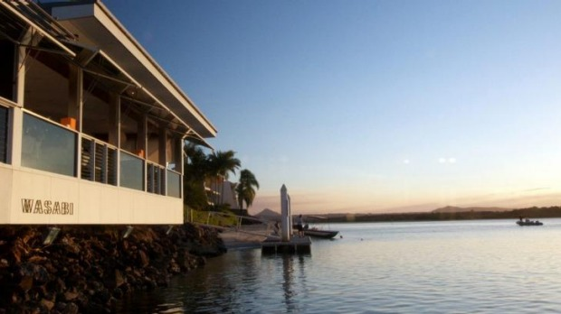 The two-hatted Wasabi Restaurant & Bar sits on the Noosa River.
